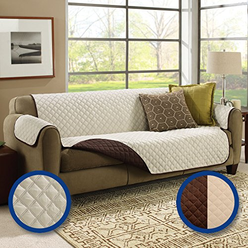 (BulbHead Couch Coat Double-Quilted, Stain-Blocking Couch Cover)