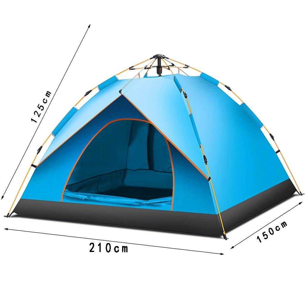 DFHHG@ Zelt, Outdoor Outdoor Zelt, Automatische Familie Double Single Camping Feld Verdickung Regendicht Camping 210  125 cm dcfc63