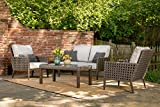 Hanover ARC-4PC-SLV Archer 4-Piece, Gray Outdoor Furniture