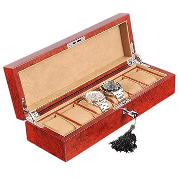 SODDEY Caja de presentación de Madera de 6 Relojes, Estuche ...