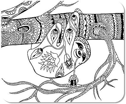 Mousepad Ordinateur Bloc Notes Bureau Sur Des Patrons De Branche Pour Coloriage Dessin A Main Levee Croquis Dessin A La Maison Ecole Jeu Joueur Ordinateur Travailleur Amazon Fr Informatique