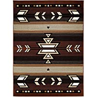 Champion Rugs South West Native American Area Rug Brown Design #C101 (2' X 3')