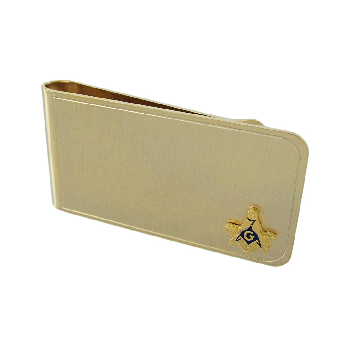 Things2Die4 Gold Plated Square and Compass Masonic Symbol Money Clip 2065