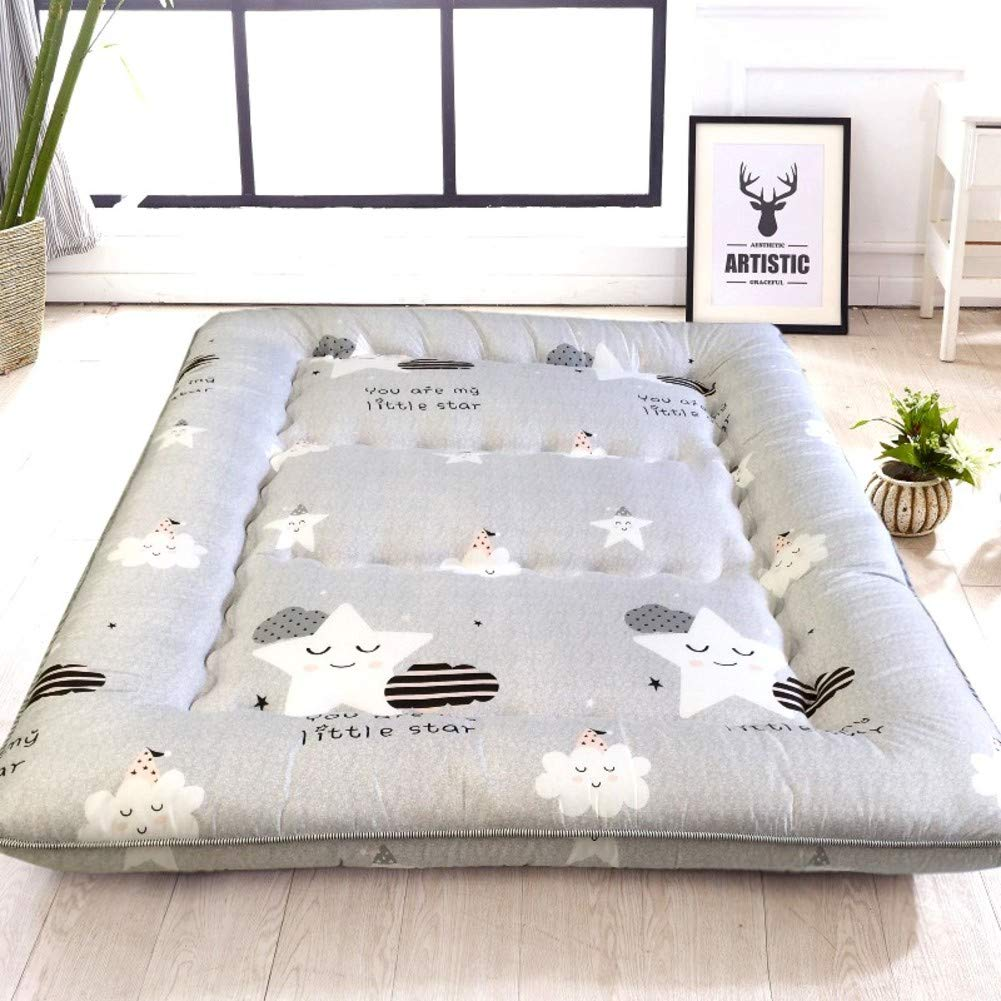 L 180x200cm(71x79inch) Thick Tatami Floor Mat, Foldable Mattress Mat Japanese Sleeping Pad Breathable Futon Matt Mat Mattress Topper for Dormitory Home-o 200x220cm(79x87inch)