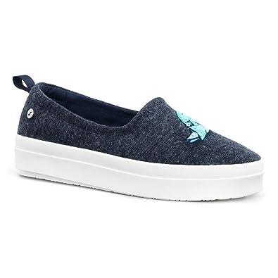 Sakroots Women's Saz Critter Flat Sneaker Navy Bird 7.5 M