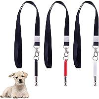 3Pcs Dog Whistle to Stop Barking, Adjustable Pitch Ultrasonic Training Tool Dog Bark Control Whistle with 3 Free Lanyard Straps