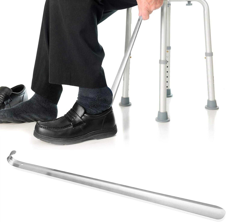 Metal Shoehorn Professional Stainless Steel Shoehorn Shoe Lifter for Seniors Elderly