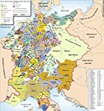 LAMINATED POSTER Map of The Holy Roman Empire, 1400 C.E. POSTER PRINT 24 X 36