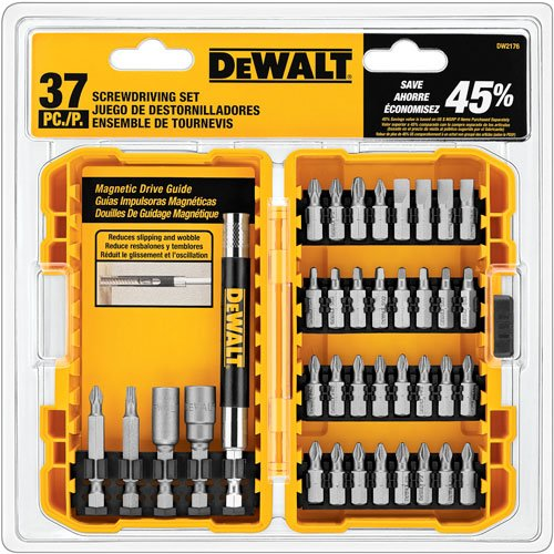 37 Piece Set - DEWALT DW2176 37-Piece Screwdriving Set