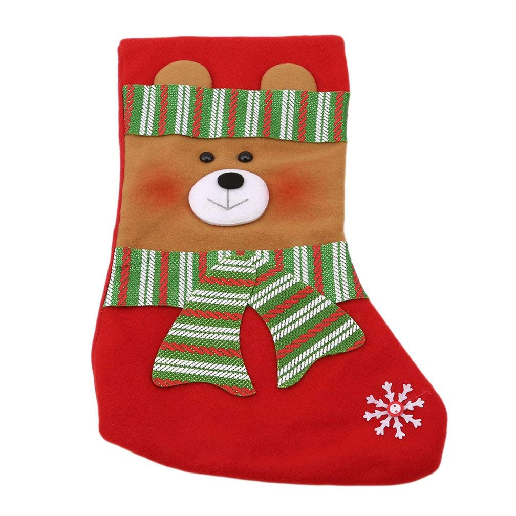 Xeminor Premium Quality Christmas Stockings Hanging Socks Home Party Decoration Christmas Candy Hose Gifts Bear