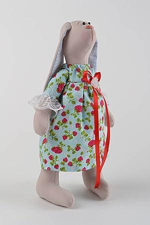 Conejo de peluche artsanal regalo original para ninos decoracion de dormitorio: Amazon.es: Juguetes y juegos