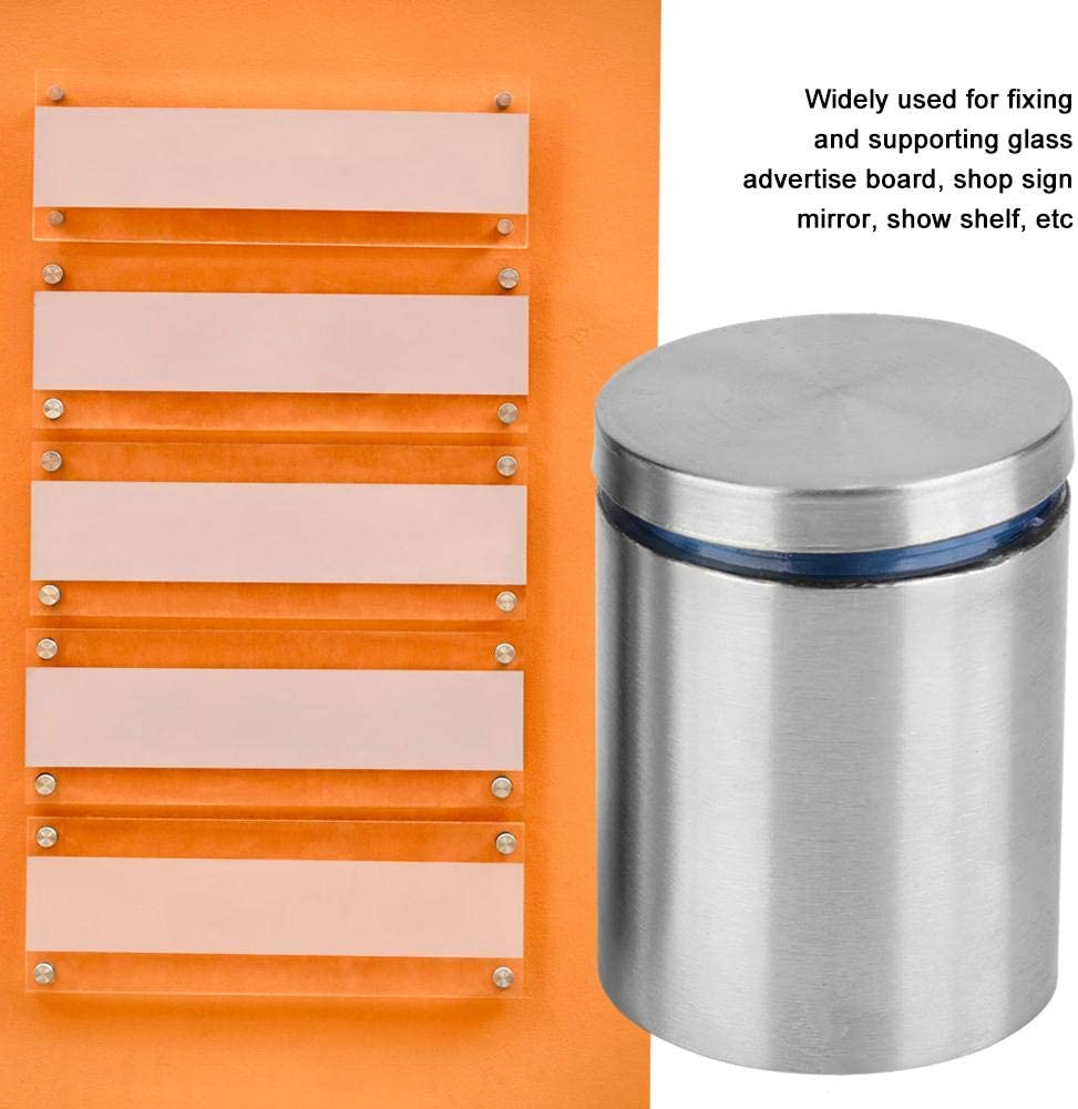 Show Shelf Glass Advertise Board Shop Sign 2pcs Advertise Fixing Pin Hollow Stainless Steel Glass Standoff Mounting Bolt 4050mm for Fixing and Supporting Mirror