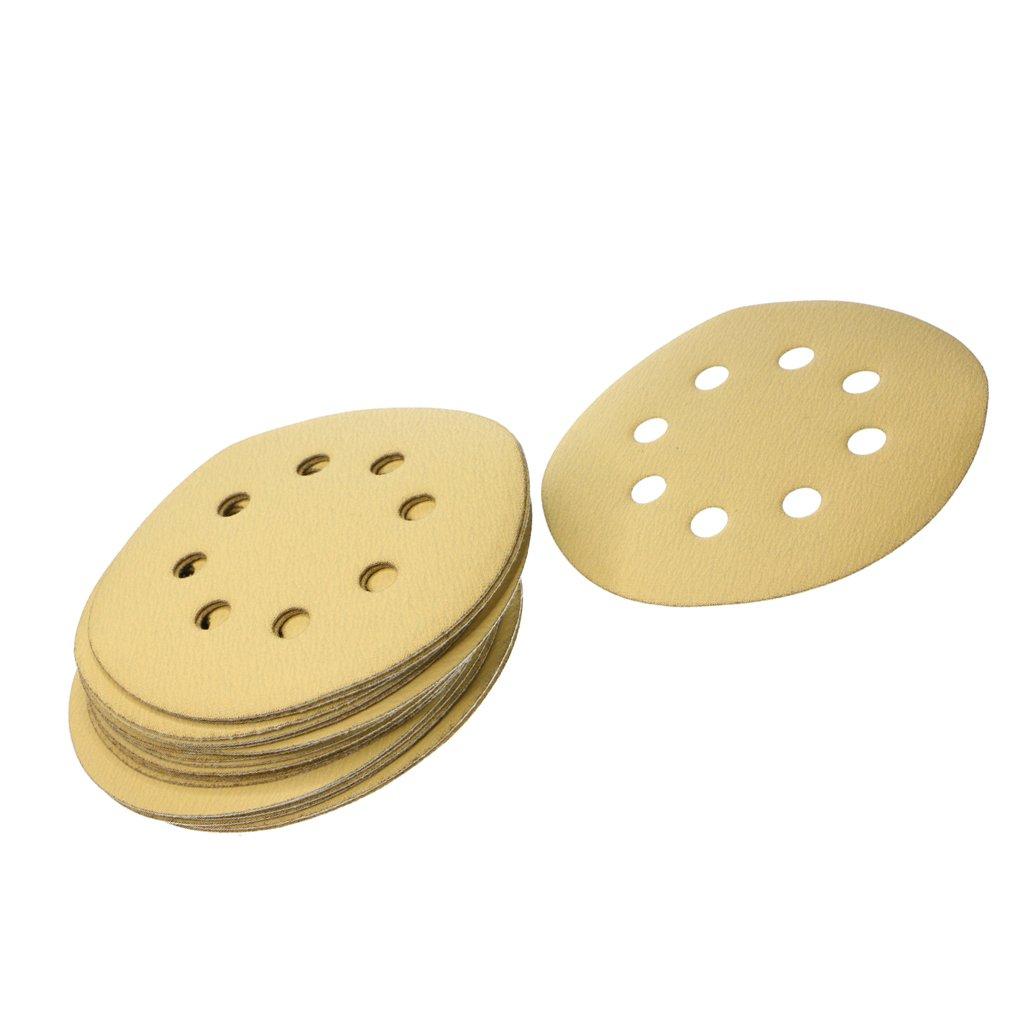 320 Grit FLAMEER 20X 5 Sanding Discs Sandpaper Hook and Loop Pads Orbital Sander 8 Hole As Described
