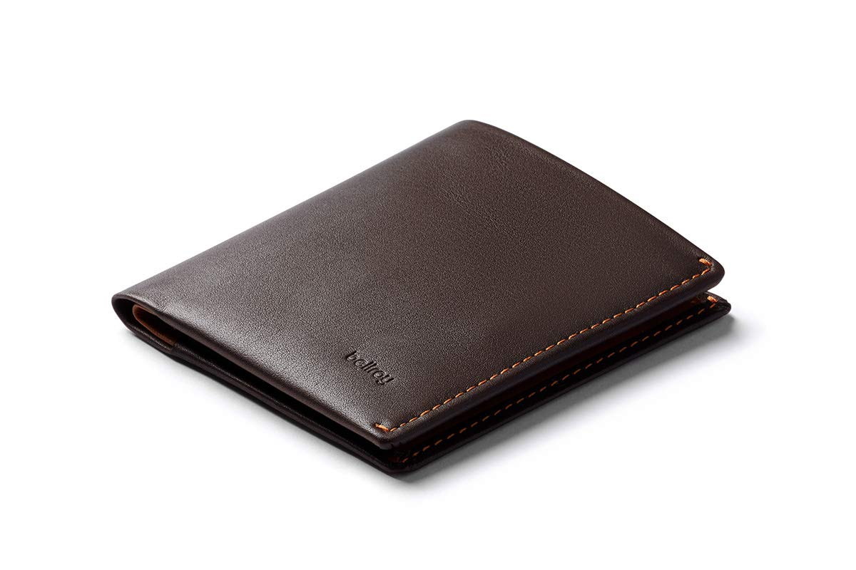 Bellroy Note Sleeve, slim leather wallet, RFID editions available (Max. 11 cards and cash) - Java Caramel - RFID
