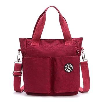 Mochila para mujer Bolsa de pañales Impermeable Oxford Tela Mochila para portátil para hombres, mujeres