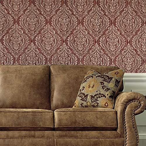 10m Slavyanski vinyl wallpaper burgundy dark wine red black gold silver sparkles rust rustic rusted textured old vintage retro style diamond damask pattern double rolls wallcovering textures 3D modern