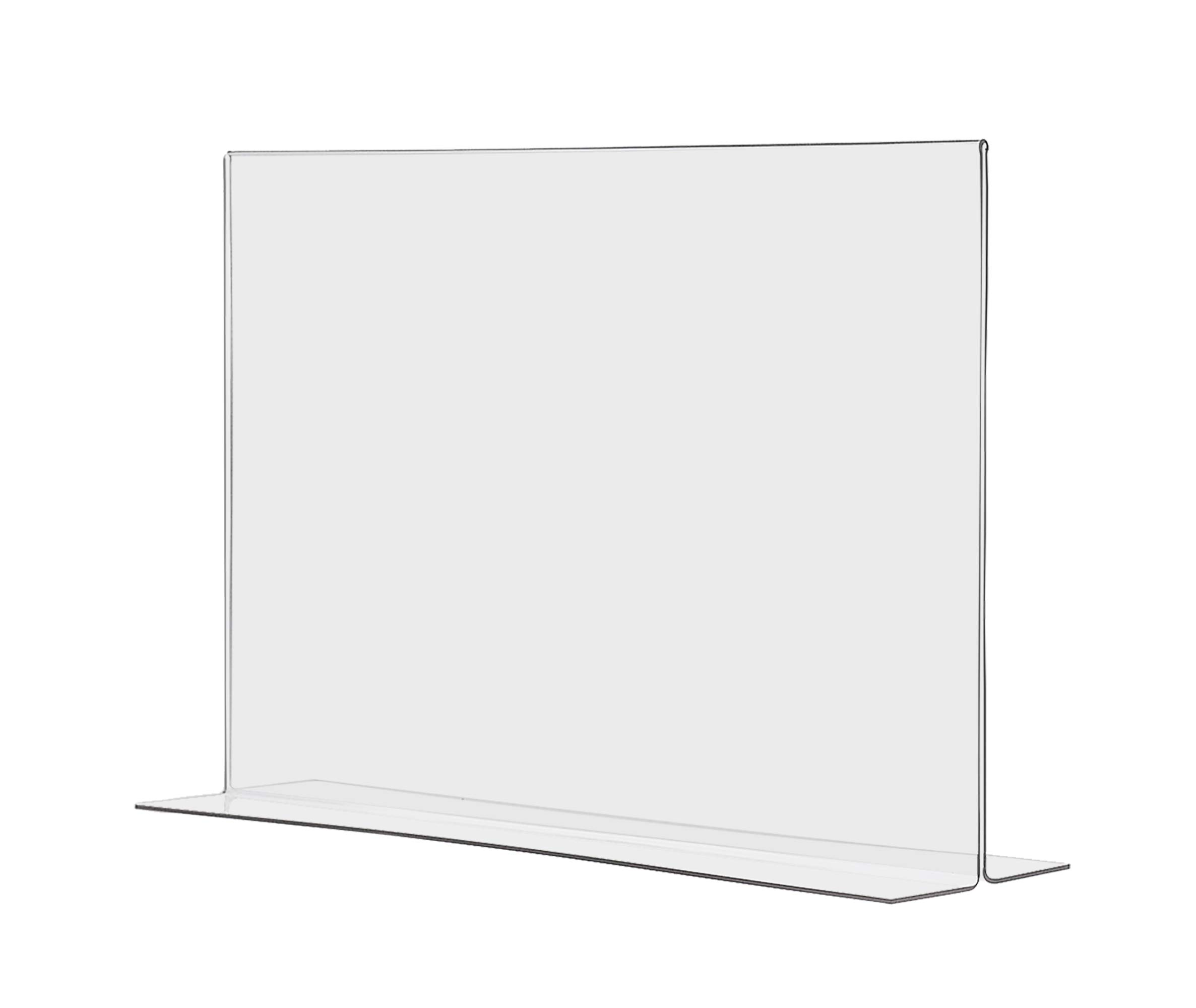 "Marketing Holders Tabletop Sign Holder for Posters Advertisements Flyers Informational Sheet Signage Frames Countertop Lucite Picture Frame 17""W x 11""H Bottom Load Pack of 20"