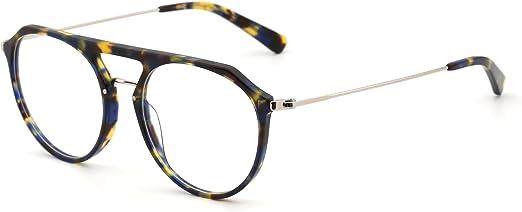 JIM HALO Designer Nicht Verschreibung Brillen Federscharnier Metall Gl/äser Damen