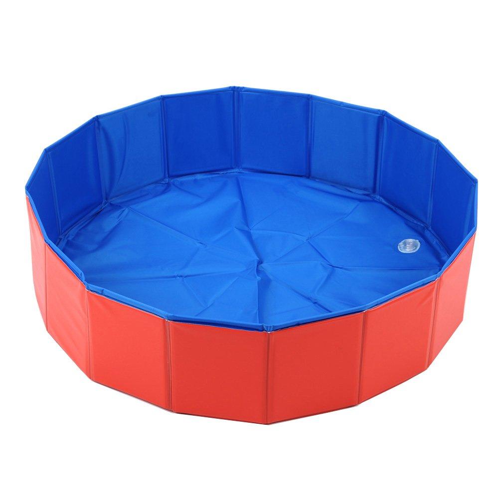 Amazon.com: Lalawow SO COOL Foldable Pet Swimming Pool Bathing Tub ...