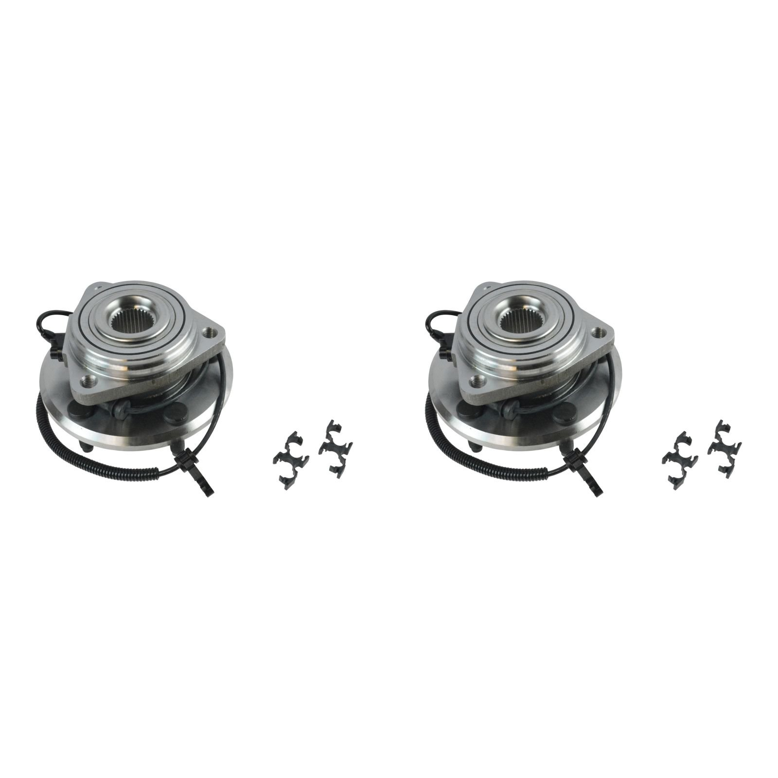 TRQ Wheel Bearing & Hub Assembly Pair Kit LH & RH Front for Jeep Wrangler by TRQ (Image #1)