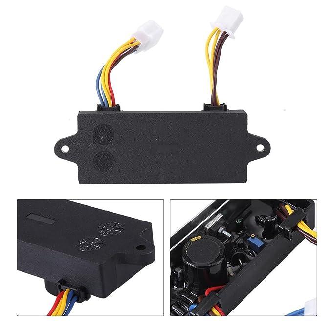 Automático Regulador de Voltaje AVR para KDE6700TA 5KW Fase única Generador Diesel de Gasolina: Amazon.es: Bricolaje y herramientas