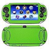Decalrus - Playstation PSP Vita Green Carbon Fiber