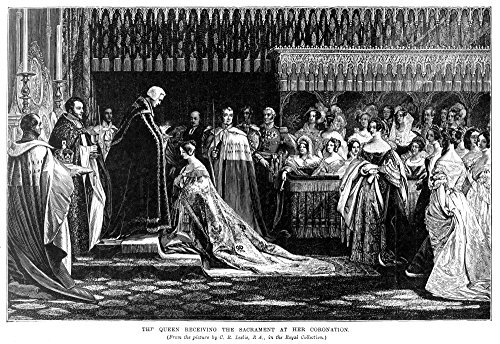 Coronation: Queen Victoria. /Nthe Coronation Of Queen Victoria (1837-1901), 28 June 1838. Engraving After Charles Robert Leslie. Poster Print by (24 x 36)