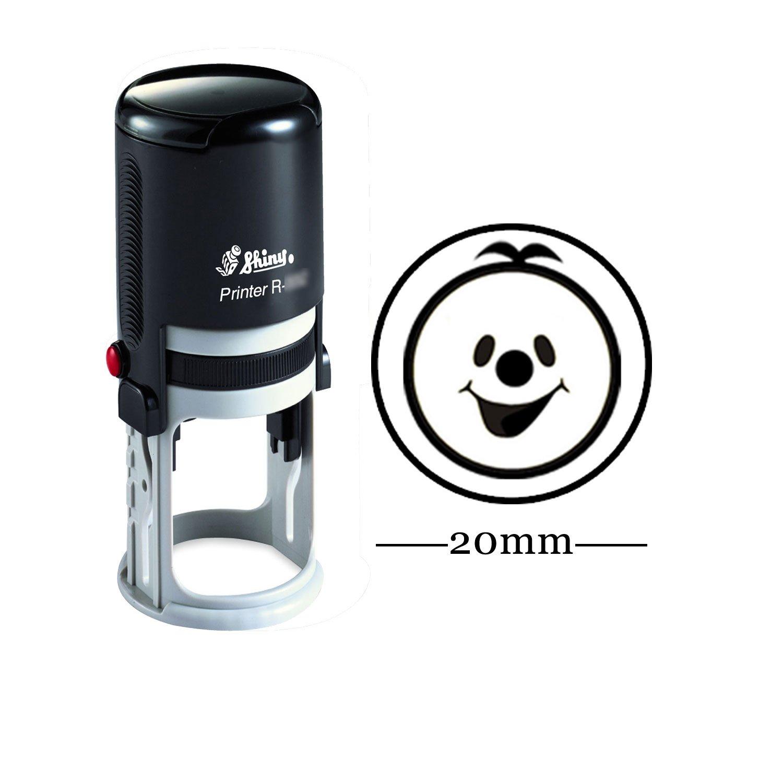 Smiley felice rotonda Auto Inchiostrazione bambini Insegnante di francobolli personalizzati timbro personalizzato lucido 20 millimetri Mini Rubber Printtoo