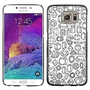 Be Good Phone Accessory // Dura Cáscara cubierta Protectora Caso Carcasa Funda de Protección para Samsung Galaxy S6 SM-G920 // Stones Art Diamond Ruby Emerald