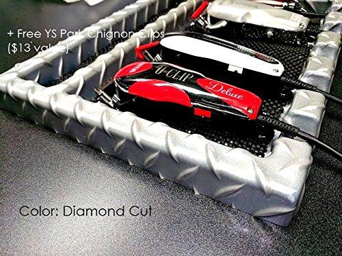 Salon Barber CLIPPER Table Top Tray w/ 5 Notches In (DIAMOND CUT) + Free YS Park Chignon Clips ($13 value) ()