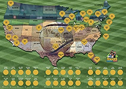 Amazon.com: Scratch-off Baseball Poster, Sports, Maps, Collectors ...