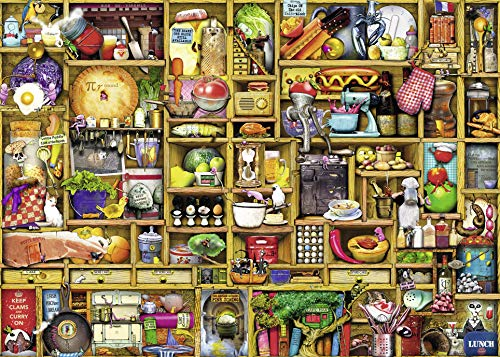 1000 Piece Jigsaw - Ravensburger Kitchen Cupboard 1000 Piece Jigsaw Puzzle for Adults - Every Piece is Unique, Softclick Technology Means Pieces Fit Together Perfectly