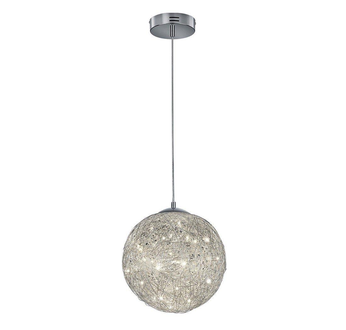 Arnsberg Thunder Aluminum LED Pendant Light with Globe Shade
