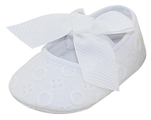 8027eec82 Avitalk Zapatos de Bebé Recién Nacido de Primeros Pasos infantil Para Niña  con Bowknot Lindo Mono Fondo Suave Transpirabe Para Fiesta Boda Bautismo   ...