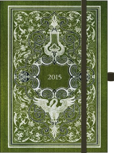 Premium Timer Big 34;Antik - Grün34; 2015: Buchkalender mit hochwertiger Folienveredelung und Prägung
