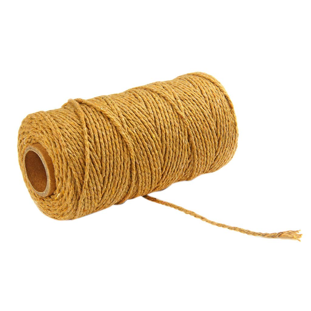300 Feet Cotton Arts Crafts Gift Twine, Kitchen Twine, Cooking String, Bakers Twines, Durable Packing String for Gardening Applications von salaheiyodd (Brown)