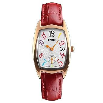 cc7ea91c46cea Amazon.com  Tayhot Women Red Leather Quartz Watch