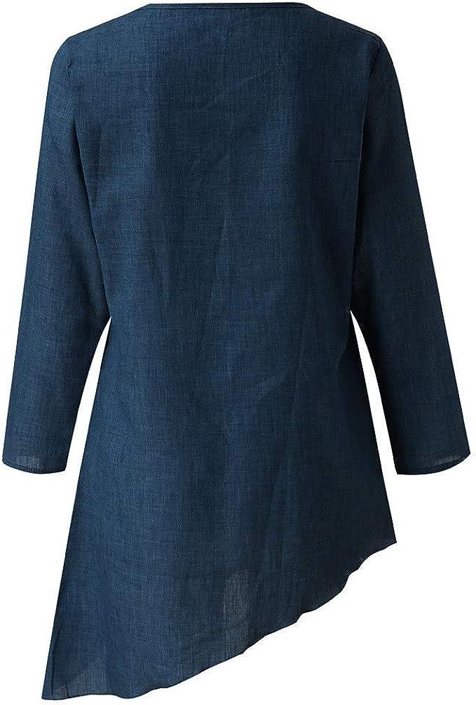 JiaMeng Camiseta de Manga Larga para Mujer Camisa Blusa ...