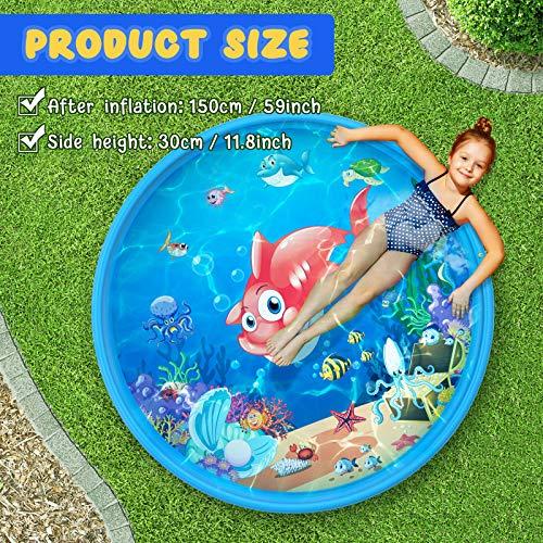 Kinder Splash-Pad, Sommer im Freien Wasserspielauflage, Sprinklerpool für Kinder über 3 Jahre Alt