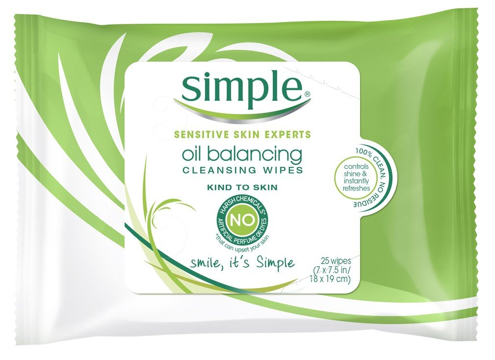 Simple Oil Balancing Wipes, 25 Count (3 Packs)