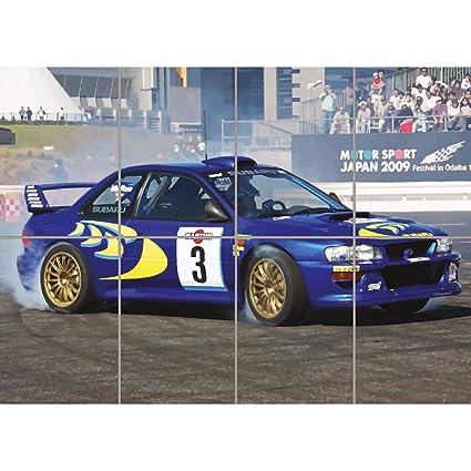 Subaru Rally Car >> Doppelganger33 Ltd Subaru Impreza Wrc Colin Mcrae Rally Car Giant Art Print Picture Poster St946