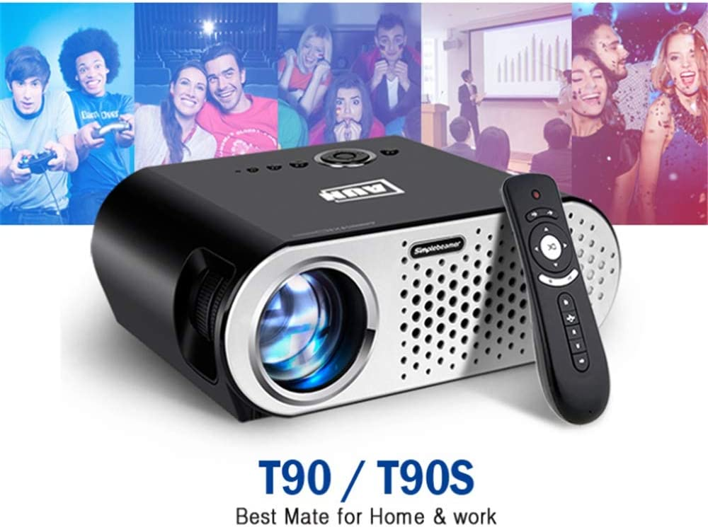 Proyector, T90S Android Upgrade Android 6,0 3200 lúmenes 720P HD ...