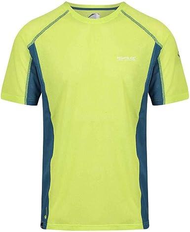 Regatta Mens Volito IV Ultra Lightweight T-Shirt Lime Punch Majolica