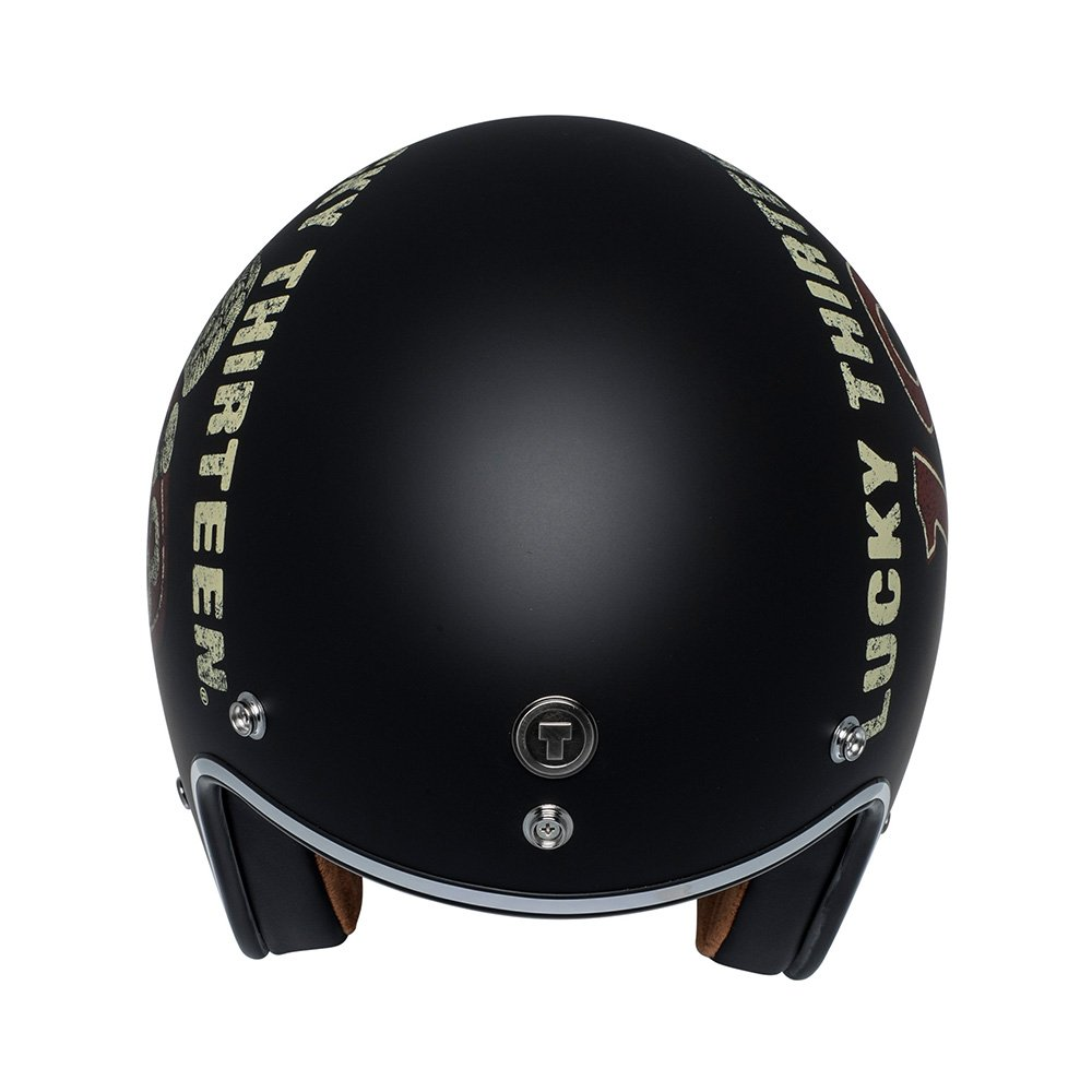 TORC Unisex-Adult Open-face-Helmet-Style Flat Black Wings SMALL