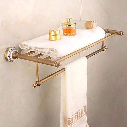 Sursy Todas de cobre toalla, toalla de baño azul y blanco porcelana ceramica baño toallero
