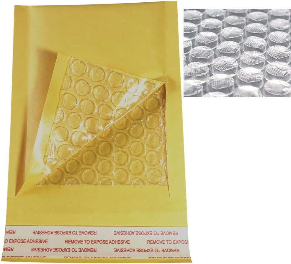 5.9x7 Inch Small Padded Envelopes Kraft Bubble Mailers Self Seal Shipping Envelopes Bags 45 Pack