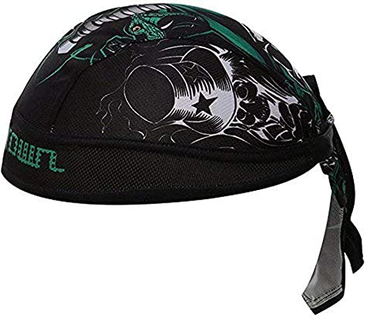 Jamestyle26 Bandana Cap Atmungsaktiv Kopftuch Bikertuch Uv Schutz Fahrrad Unisex Rad Sport Skull Black Bekleidung