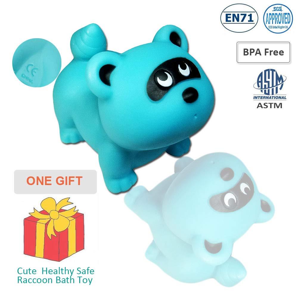 almacenamiento de juguetes 1 pieza de juguete de ba/ño de mapache como regalo 7 piezas cuidadosamente seleccionadas gancho fuerte YHYZ Organizador de ba/ño de 3 piezas