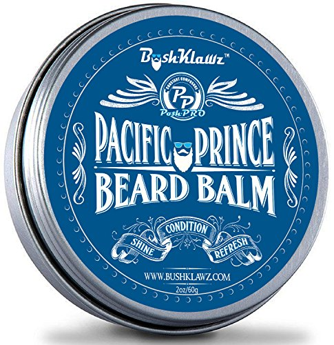 Pacific Prince Beard Balm Leave in Conditioner Beard Butter Premium Midnight Ocean Breeze Scent 2 oz - Best Aquatic Fresh Scent Conditioning Beard Balm for Bearded Men Grooming