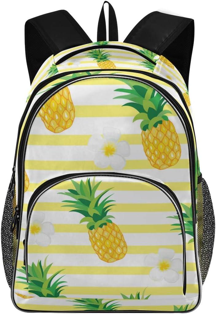 School Backpacks for Girls Kids School Rucksacks Polyester Print Personalised Shoulder Bag Pineapple Bookbag Casual Hiking Travel Daypack